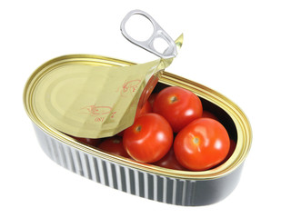 Cherry Tomatoes in Tin Can