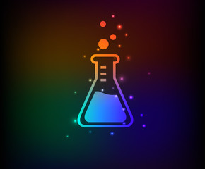 Science symbol,Rainbow vector