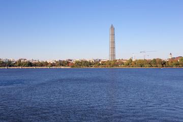 Washington Monument across The Reservoir