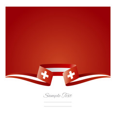 Abstract background Switzerland flag ribbon