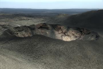 Cráter en Lanzarote