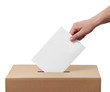 Leinwandbild Motiv ballot box casting vote election