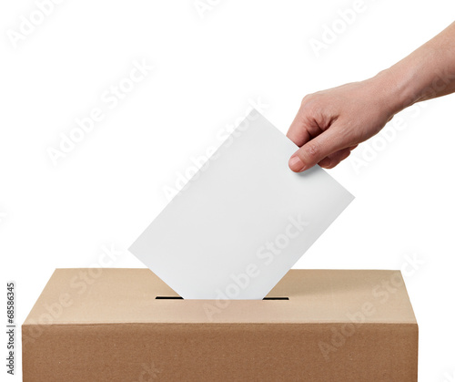 ballot box casting vote election - 68586345