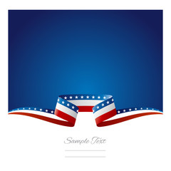 Abstract background USA flag ribbon