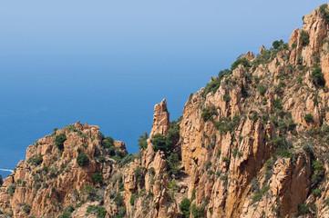 Dog rock at Calanques de Piana, Corsica