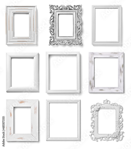 white frame wood background image - 68587350
