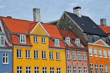 Colorful Danish houses