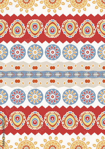Abstract vector ethnic seamless pattern. Use for wallpaper,patte - 68587532