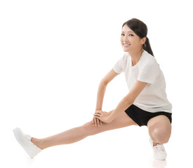girl doing stretch exercise