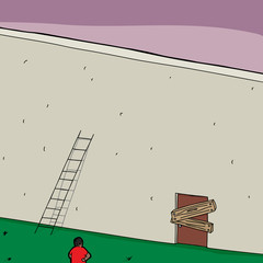 Short Ladder and Blocked Door