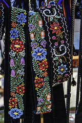 Romanian belts, wide and embroidered