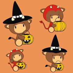 bull baby cartoon halloween costume
