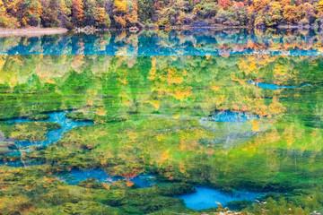 colorful autumn in jiuzhaigou