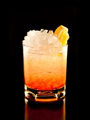 oragne rum crashed teguila
