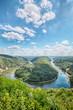 Leinwanddruck Bild - Saar River Bend - Saarschleife