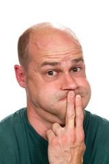 Man About To Vomit