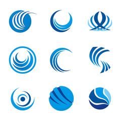 corporate logo circle swirl round vector design