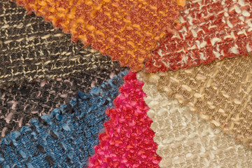 multi tone of wool fabric texture  sample background.