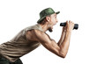 Tourist with binocular
