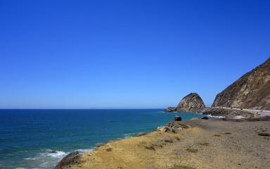 Beach along PCH-1 at Point Mugu, California
