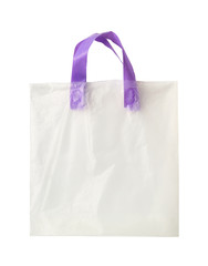 Plastic shopping bag (with clipping path) isolated on white