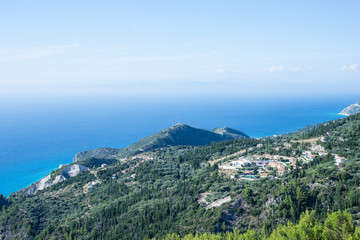 Top view of Lefkada island