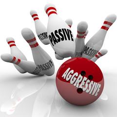 Aggressive Bowling Ball Striking Passive Pins Competitor