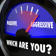 Which Are You Passive or Aggressive Gauge Measuring Ambition Bol