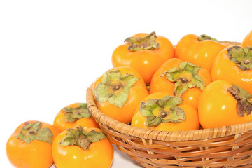 Harvest of persimmon