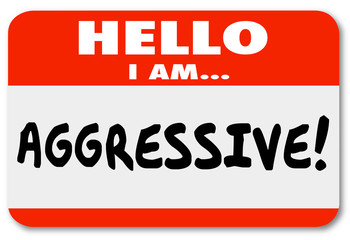 Aggressive Hello I Am Nametag Sticker
