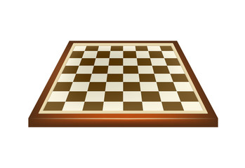 Empty chess board in brown design