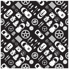 car part icons and Background