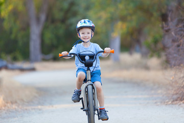 kid riding bicycle