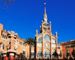 Facade of hospital de Sant Pau. Barcelona