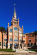 Main facade of hospital de Sant Pau in Barcelona. Catalonia