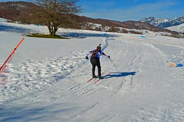 biathlon race - skier