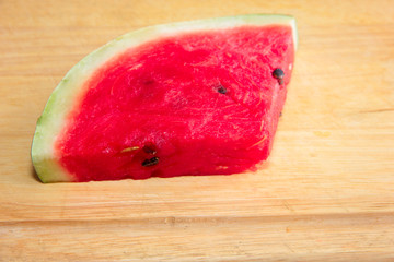beautiful piece of juicy ripe watermelon
