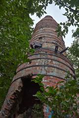 Breakup tube ancient brick factory.