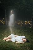 Soul of a dead girl is leaving her body