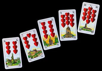 Spielkarten Denkmäler - Herz
