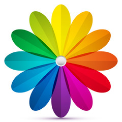 Colored rounded petals icon