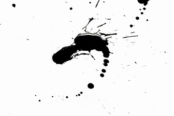 Abstract black splashes