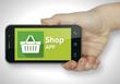 Shop app. Phone