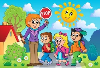 School kids theme image 2