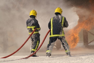 fire fighting with foam