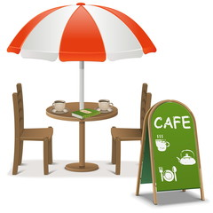 Vector Outdoor Cafe