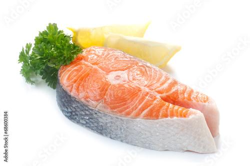 Papiers peints Poisson Raw Salmon