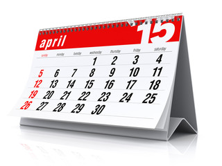 April 2015 - Calendar