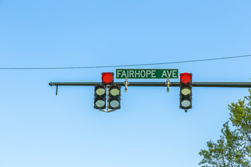 traffic lights in mobile with street name