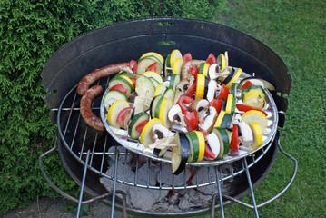 Vegetarische Grillspieße